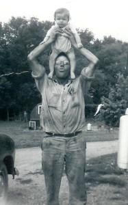 #60=Elliott on Russell's head, Summer 1954