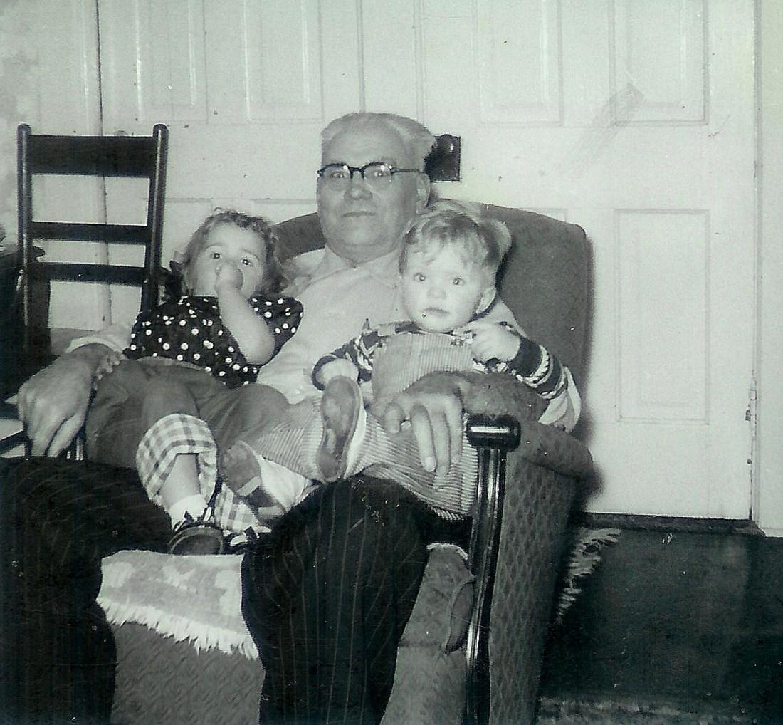 #134=Val Smith, Grandpa Sletten&Elliott; circa late 1955