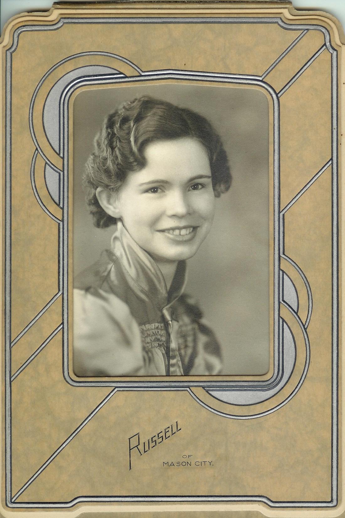 #20=Clarice Arlone Sletten(Scarville, Iowa H.S.Graduation '37)