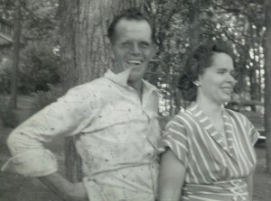 #340=Russ & Clarice N.@Pihl's Park NW of Kiester, MN; Summer 1953