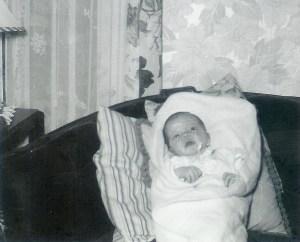 #64=Elliott at 12 days old, Jan.'54
