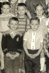 #161.2=Elliott and First Grade class; circa 1961
