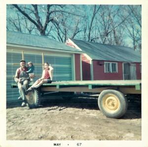 #28=Hay Wagon(Dad, Debbie E. & Candi)Spring '67