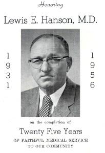 #210=Dr. Lewis Hanson,my birth doctor in '54; Nov. 18, 1956