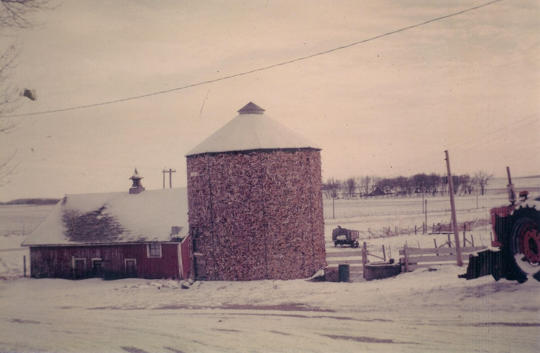 #70=Corncrib & Hog House in Kiester, MN...looking SE.