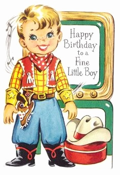 vintage western birthday cards Unique 1950 s Cowboy Birthday card