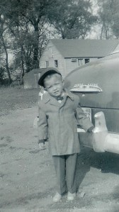 #105=Elliott's first day at Sunday School; 1959 maybe