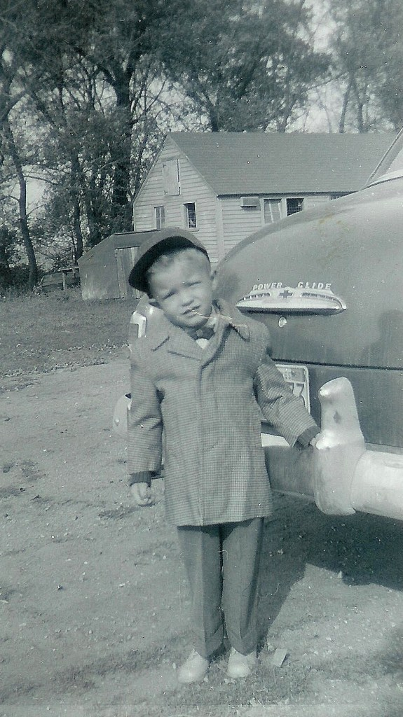 #105=Elliott's first day at Sunday School; 1959 maybe
