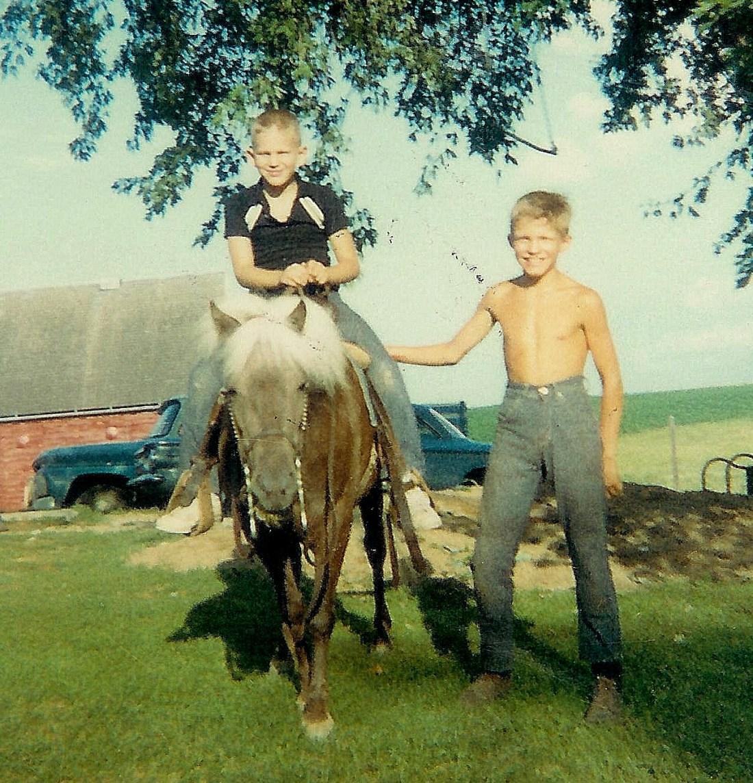 #34=Elliott(with Little Lady at Heitzeg's farm 1965)