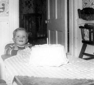 #61=Elliott's first B.D.,Jan. 1955