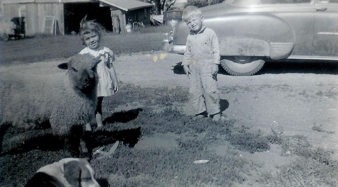 #81=Candi & Elliott with Cheeta, Summer '58