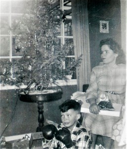 #254.1=Lowell&Mom at G&G Sletten's home; circa Christmas 1951_edited