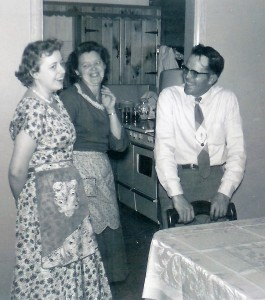 #407=Russ N. at Del's home in Albert Lea, MN; Circa Dec. 1956