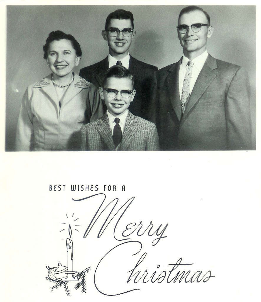 #433=Muriel n family; Christmas 1956