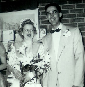 #473=Delmaine&Ilena Sletten's wedding; April 12, 1953
