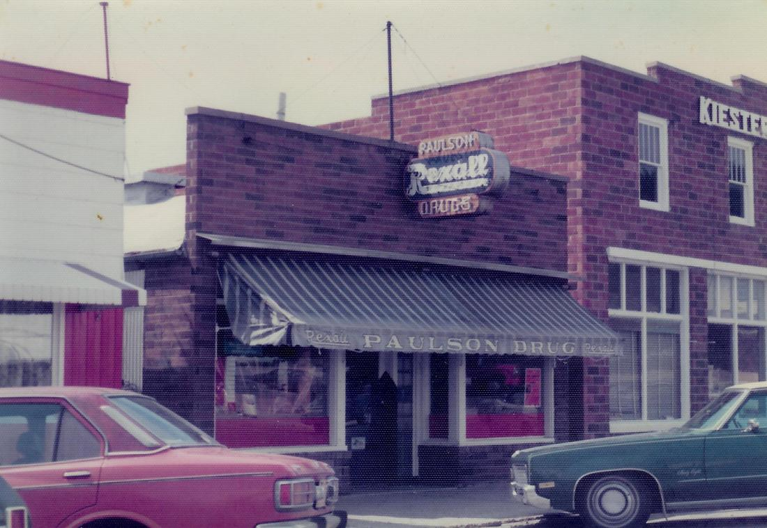 #579=Rexall Drug Store, Kiester, MN; Summer 1974