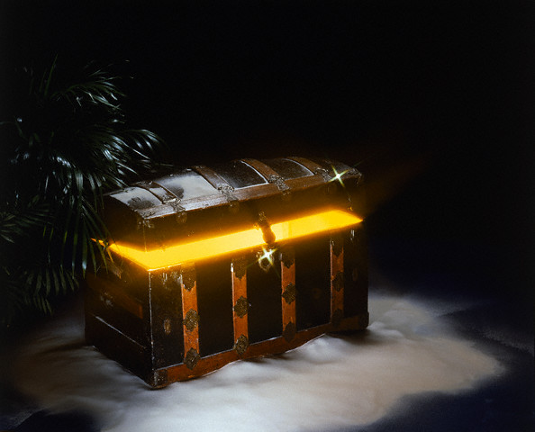 Treasure Chest with Glowing Interior