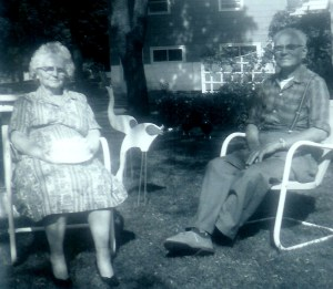 #376=amanda&clarence sletten outside of their home; date unknown