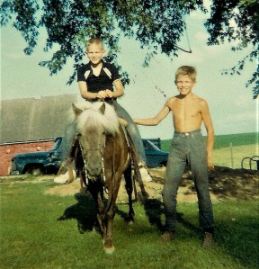 #34=Elliott(with Little Lady at Heitzeg's farm 1965)