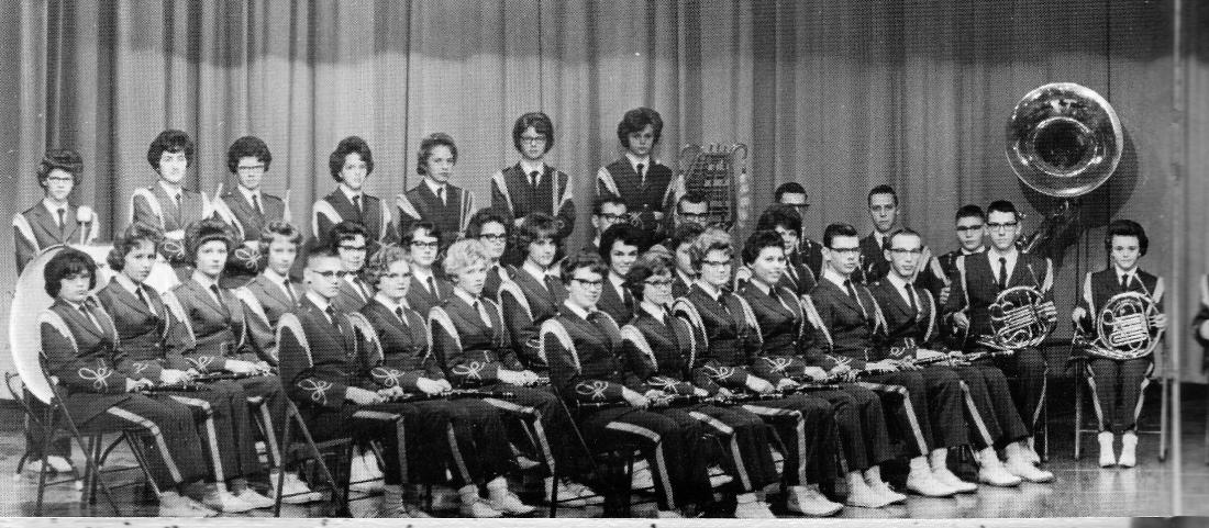 #1021 KHS 1963 Band. Rosie last row.