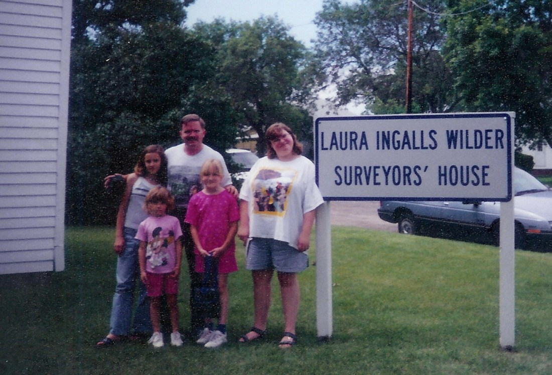 #183=Dad & girls at Surveyor's House; June 1998