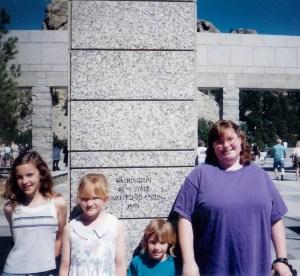 #184=Girls at Mount Rushmore; July 1998