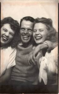 #739 Dad n sister Doris 1945