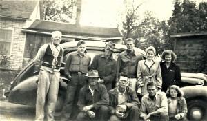 #901 Russ Noorlun n siblings w G. Edwin. 1945 Clearwater, MN