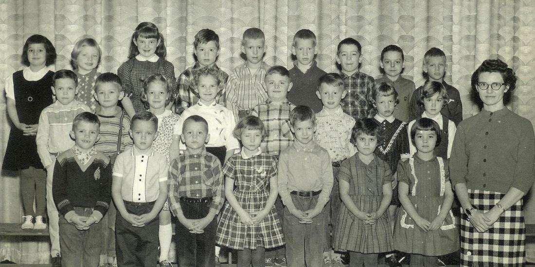 #161=Elliott and First Grade class; circa 1961