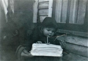 #153=Elliott and 1st BD cake; Jan. 14,1955