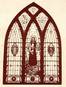 #964 Grace EUB Stained Glass...Kiester, MN 001