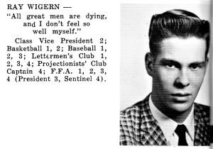 #1079 KHS 1960 Ray Wigern