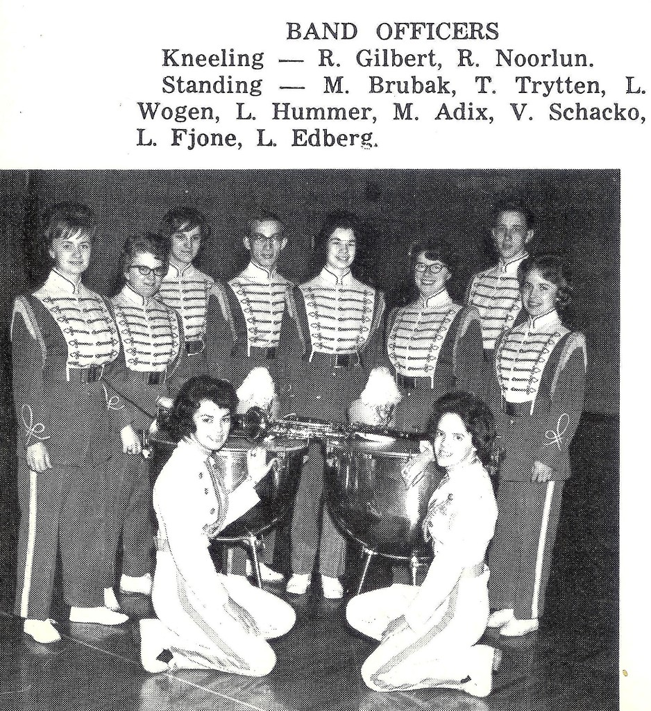 #136=Rosemary as KHS Band Officer; 1964