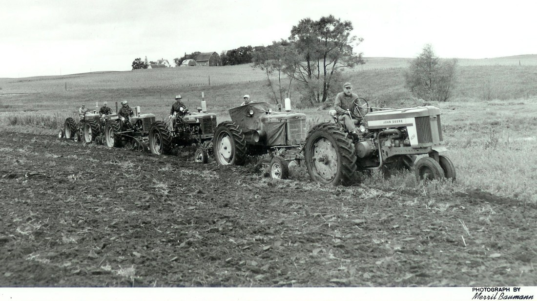 #25=Plowing Bee(to help my hurt Dad) early 1960's