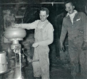#397=Russ&Erwin Noorlun, Kiester milk room; circa late 1940's