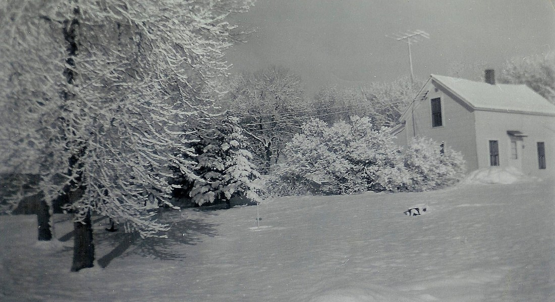 #77=Kiester farm, February 1959, looking NW