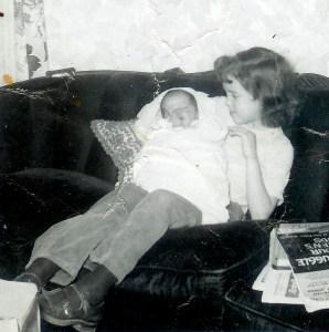 #151=Elliott in Rosie's arms; Jan. 24, 1954