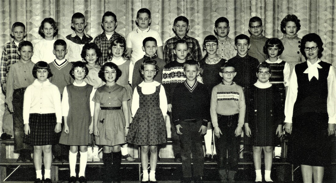 #165=Elliott's 4th Grade class 1963-64; Ada Leland - teacher