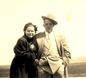 #361=Clarice&Russ N., Palm Sunday; April 6, 1952