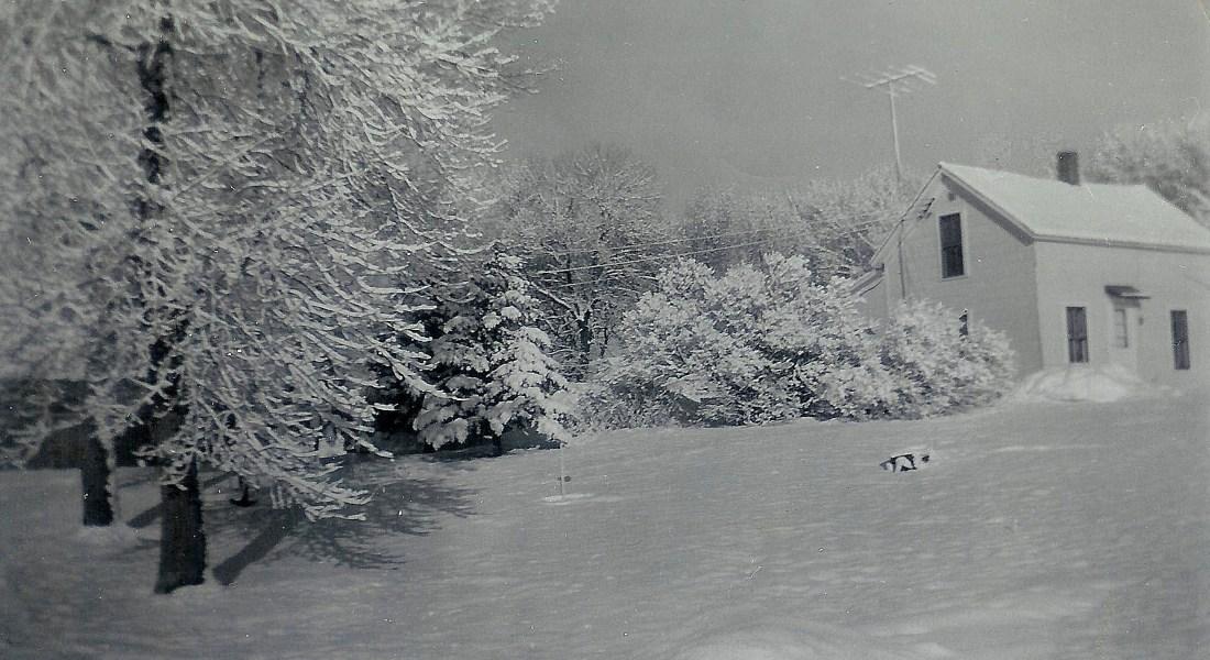 #77=Kiester farm, February 1959, looking NW