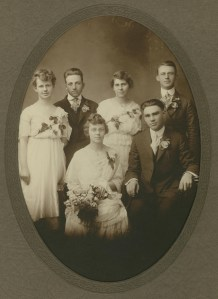 NS#23=Sletten wedding party, Dec. 24, 1917