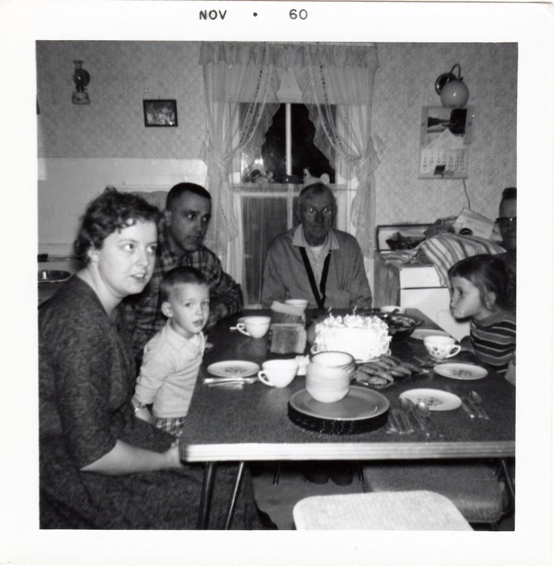 #987 Candi's Birthday 1960 Illena, Matt, Del, Grandpa John, Russ and Candi
