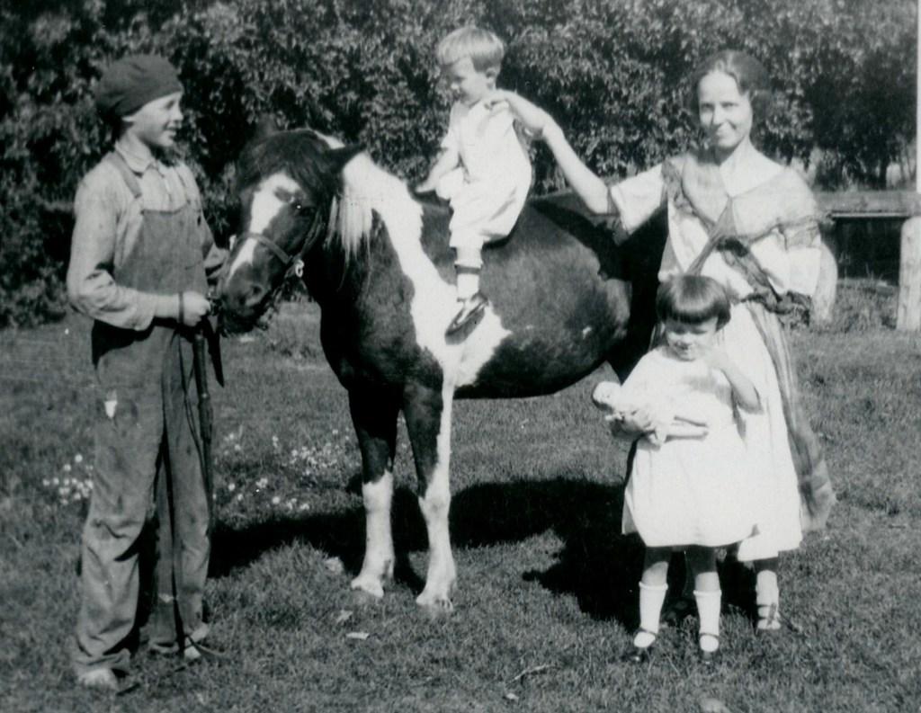 NS#18=Bob S. on horse, circa 1925
