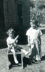 #275=Rosie advertising seed corn her dad sold; Summer '48