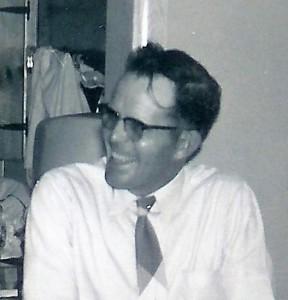 #407.a=Russ N. at Del's home in Albert Lea, MN; Circa Dec. 1956